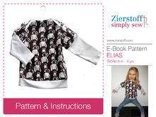 ELIAS´ American neckline shirt / longsleeve pattern, sizes 62-104 / 6 mo. – 4/5 yrs.