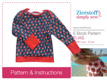 ELIAS´American neckline shirt / longsleeve pattern, sizes 110-152 / 5-12 yrs.