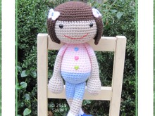 Huggy Denise, Instant Download PDF Crochet Pattern in English or German