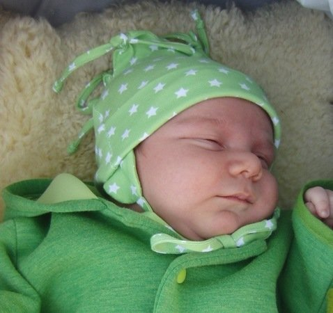 LISBETHs baby bonnet / newborn hat pattern, sizes 35-45 / 0 mo.-6 m
