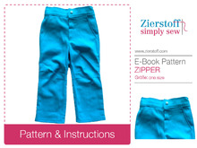 E-Book: How to sew a fake zipper and waistband