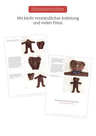 Nähanleitung - Einfacher Teddybär für Anfänger / Stofftier