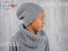 Cute as a button Slouchy Beanie & Loopschal