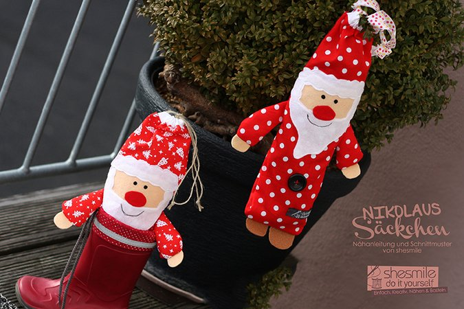 Nikolaus-Säckchen (Nähanleitung & Schnittmuster)