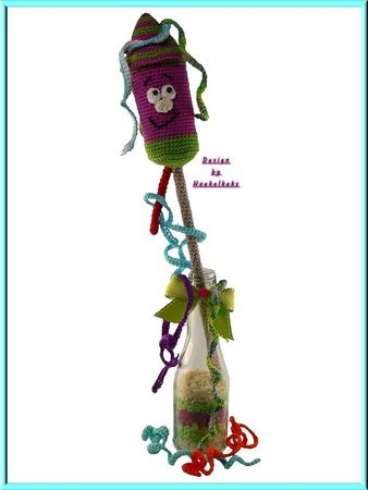 New Year´s Eve Rocket -- crochet pattern by Haekelkeks -- english version