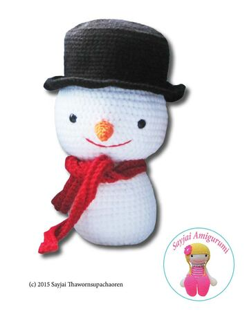 Free crochet snowman pattern - Amigurumi Today | 450x357