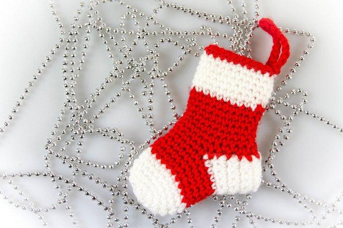 Weihnachtssöckchen Häkelanleitung / Amigurumi