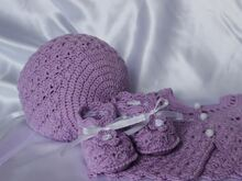 Shell Baby Bonnet and Booties Crochet Pattern