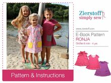 RONJAs dress / tunic pattern, sizes 62-104 / 6 mo. – 4/5 yrs.