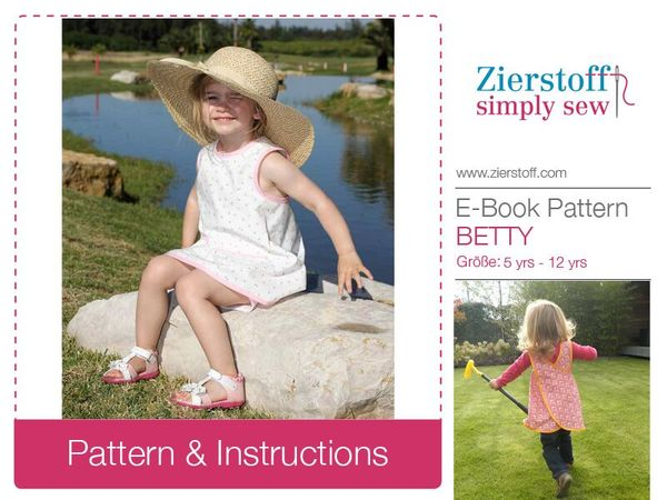 BETTYs dress / tunic top – sizes 110-152 / 5-12 yrs. / Instant Download