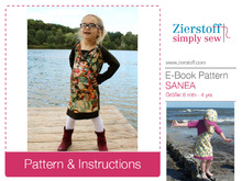 SANEAs raglan dress / shirt / tunic pattern, sizes 62-104 / 6 mo. - 4/5 yrs. / Instant Download