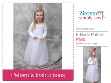 Paris dress / tulle dress, sizes 62-104 / 6 mo. – 4/5 yrs. / Instant Download