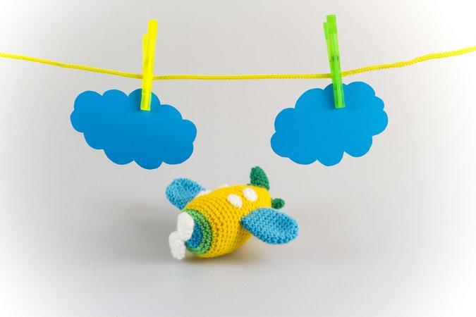 Amigurumi Puppe Flugzeug Häkeln Häkelanleitung Diy