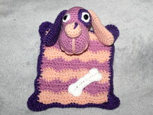 Cuddly dog blanket crochet pattern