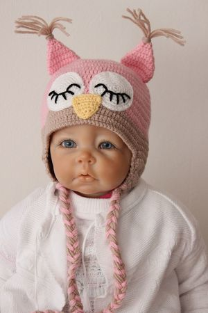Sleepy Owl Hat Crochet Pattern