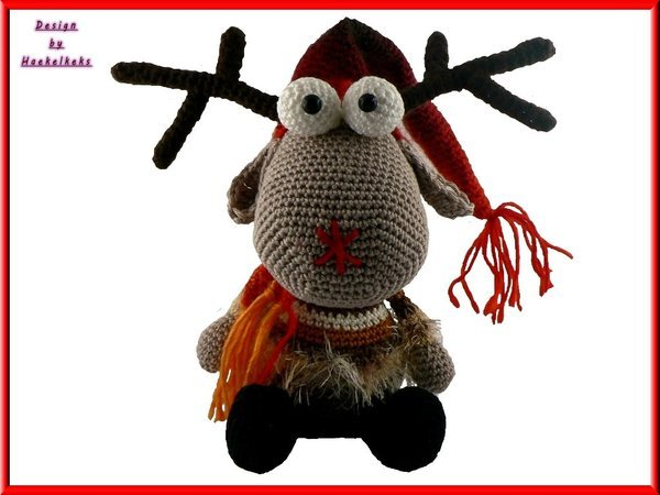 Reindeer Ralph -- crochet pattern by Haekelkeks -- english version
