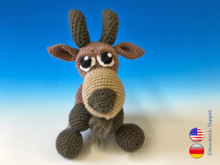 Crochet Pattern Seppel the Ibex