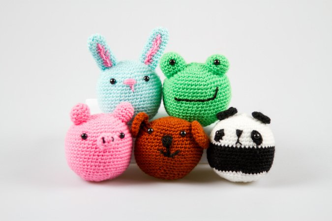 amigurumi tiere h keln panda hase frosch schwein b rchen. Black Bedroom Furniture Sets. Home Design Ideas