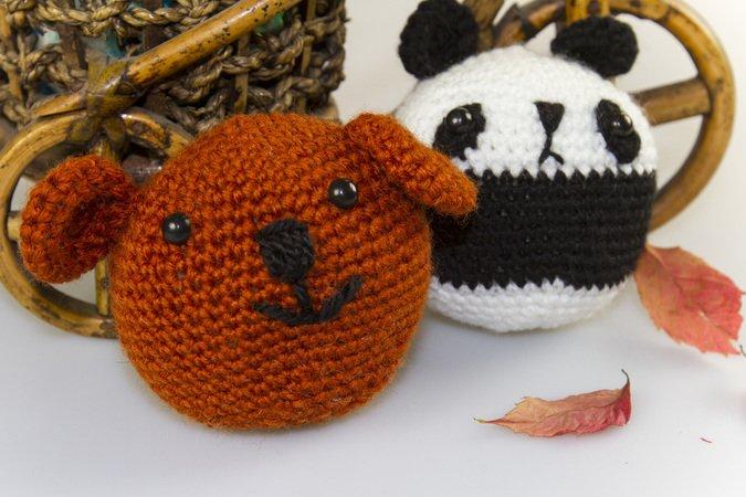 amigurumi tiere h keln panda hase frosch schwein b rchen spielzeuge anleitung. Black Bedroom Furniture Sets. Home Design Ideas