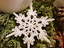Gratis Schneeflocke Häkeln Schneekristall
