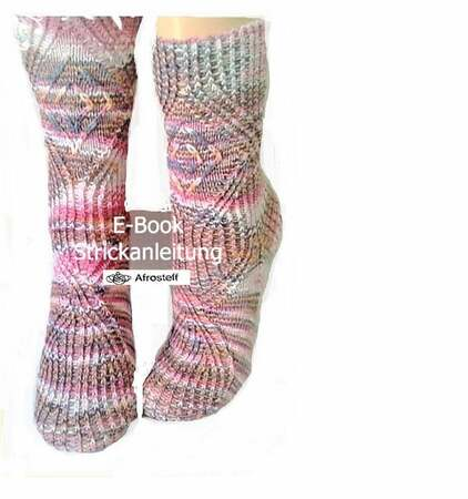 "Knitting pattern ""hourglass"" for a sock"
