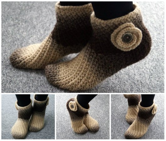 Crochet Slippers! Warm and super soft! Size 6-13