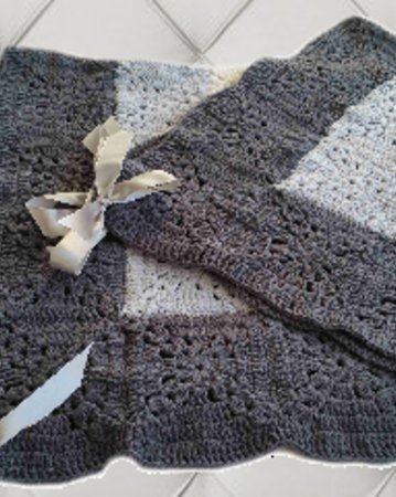 Häkelanleitung Decke Babykollektion No.3