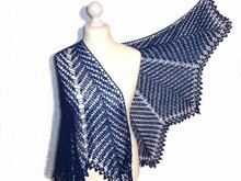 "Crochet pattern ""Kentia Shawl"" half circle"