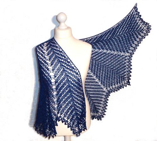 Crochet Pattern Kentia Shawl Half Circle