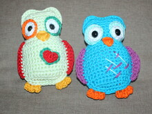 colourful owl crochet pattern