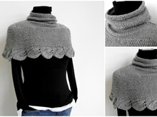 Knitting Pattern – Cape LEAVES – No.128E