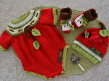 "Baby Romper Onesie ""Apple of my eye"" set"