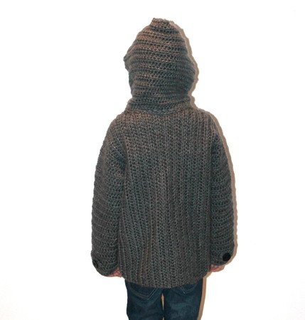 crochet pattern childrens jacket in 5 different sizes