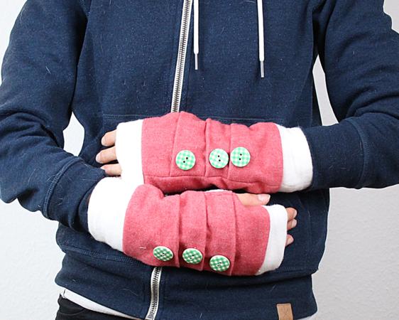 Nähanleitung Stulpen | fingerlose Handschuhe nähen