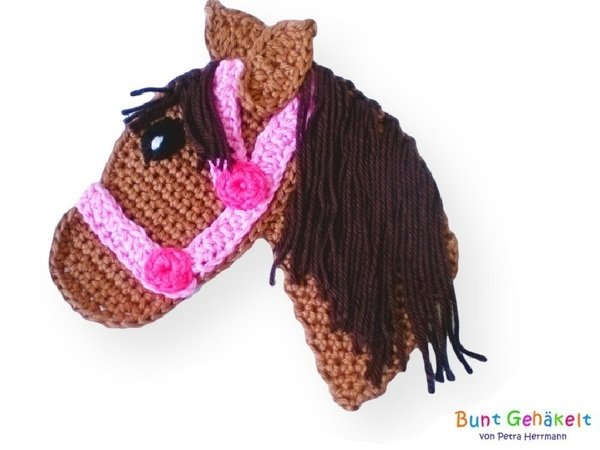 Horse Crochet Appliqué Pattern