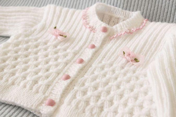 Knitting Pattern New Zealand : Baby Jacket Knitting Pattern
