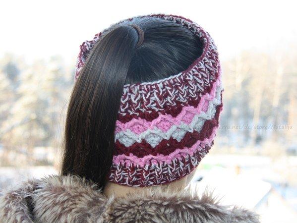 Stirnband mit dem farbigen Muster für Herbst oder Winter ...