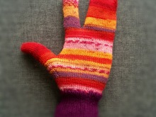 Glittens - 2-Finger-Mittens *Pattern for Knitting Machine*