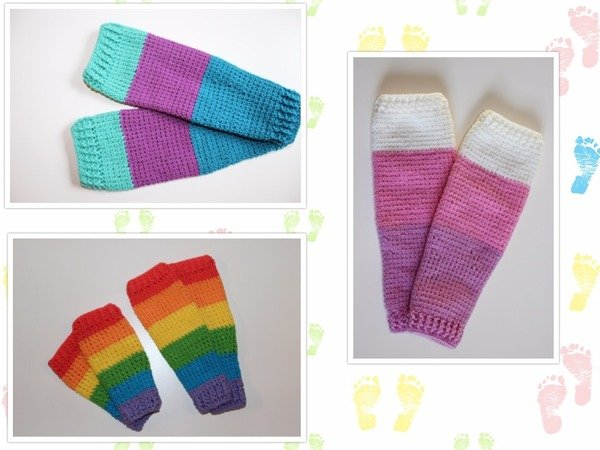 crochet pattern cuffs babies & children, all sizes
