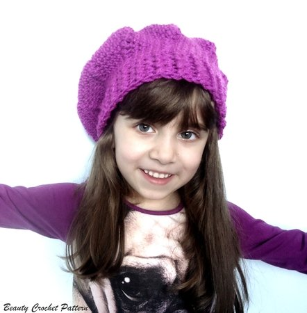 Crochet Slouch French Beret Toddler-Child Pattern