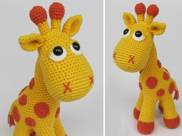 Amigurumi Crochet Pattern : Instructions for crocheting a giraffe diy