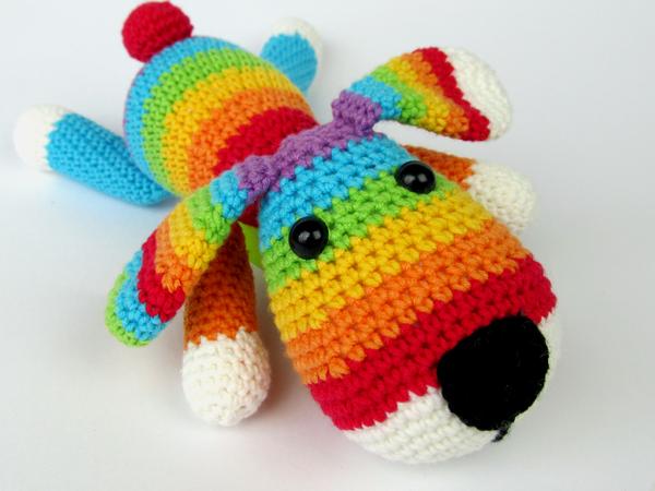 Rainbow Puppy Amigurumi Crochet Pattern