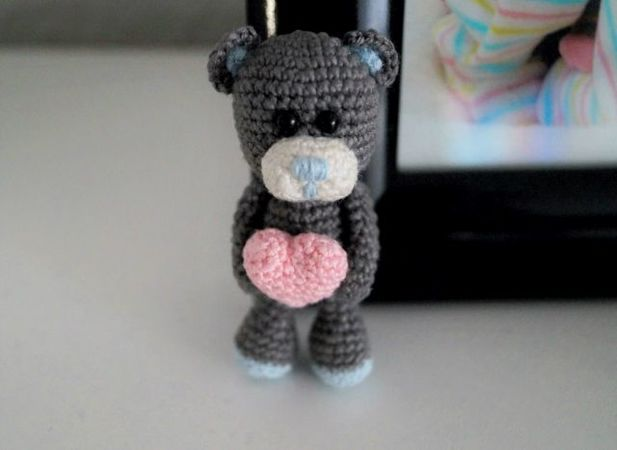 Keychain Little Bear, Amigurumi Bear