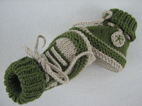 Easy Knitting Pattern Hat : Baby shoes /// baby boots -- knitting pattern