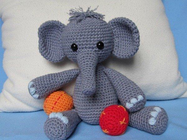 Crochet Amigurumi Legs Together : Playful Elephant Bert Amigurumi Crochet Pattern