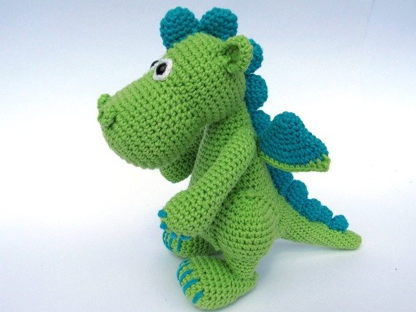 Crochet Patterns Dragon : Dragon Draco Amigurumi Crochet Pattern