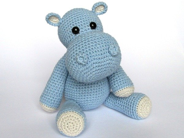 Beginner Crochet Toy Patterns : Little Hippo Timi Amigurumi Crochet Pattern
