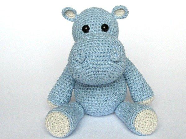 Little Hippo Timi Amigurumi Crochet Pattern | 450x600