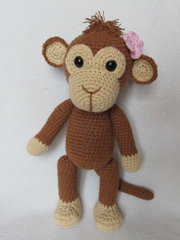 Free Patterns Crochet Monkeys : Sweet Monkey Julie Amigurumi Crochet Pattern
