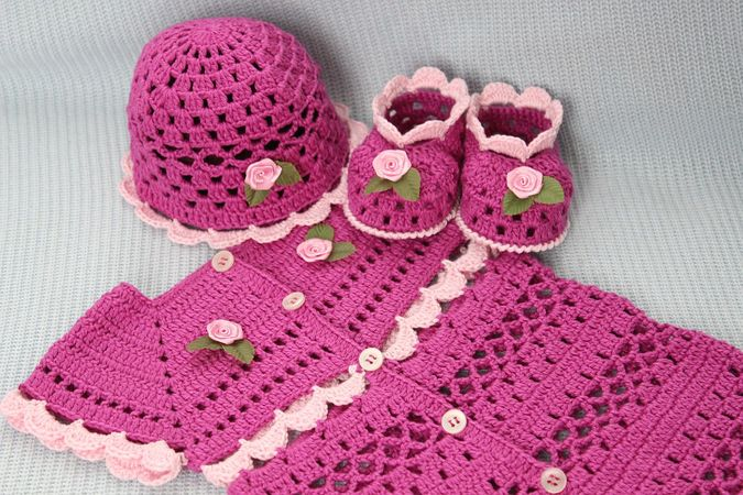 Orchid Baby Outfit Crochet Pattern